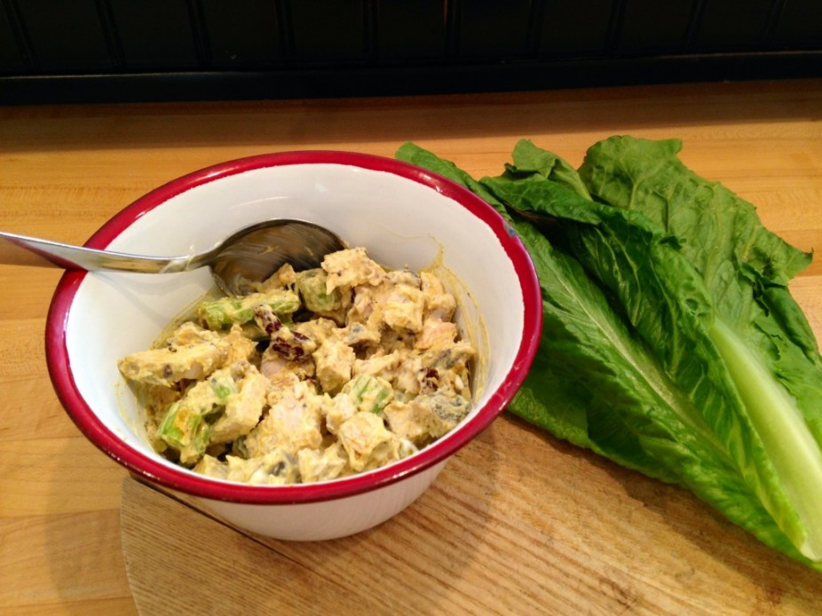Curried Cranberry & Walnut Chicken Salad (wrap)