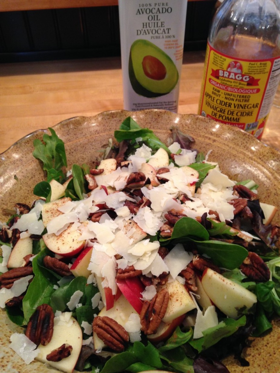 Cinnamon Apple & Toasted Pecan Salad