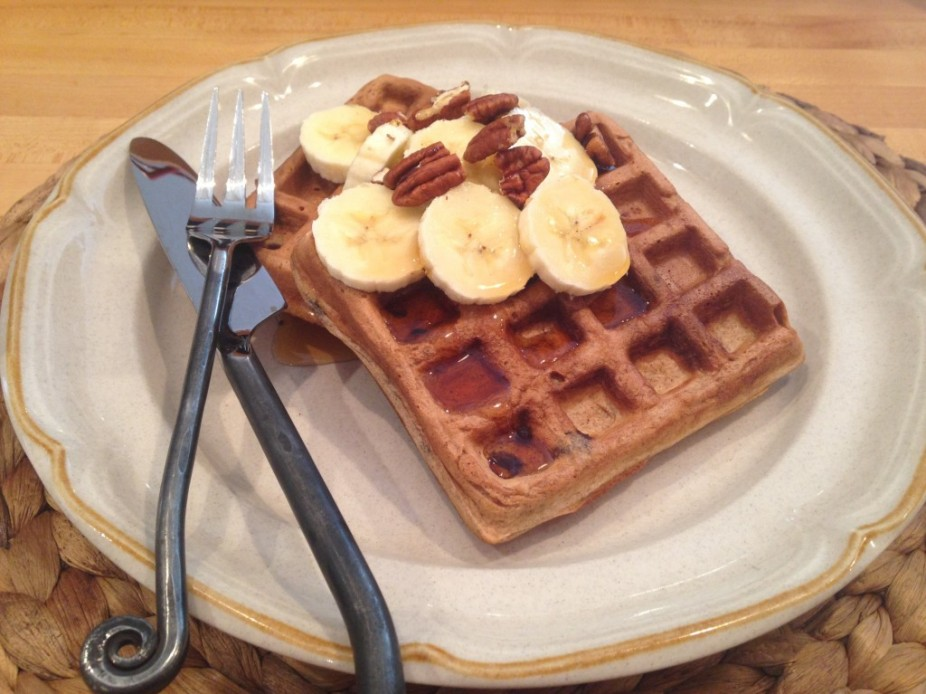 Simple Chocolate Chip Waffles