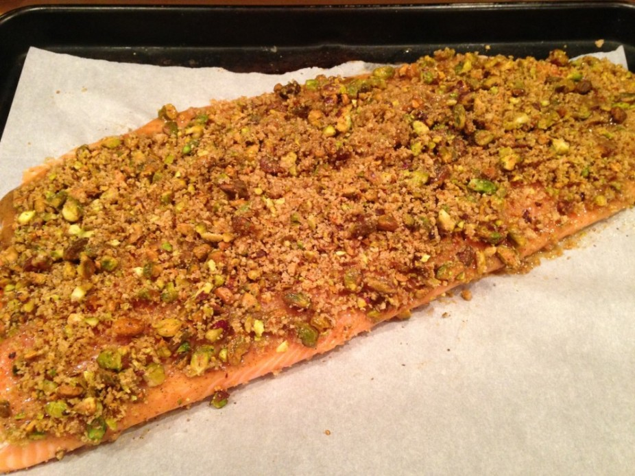 Pistachio Crusted Salmon