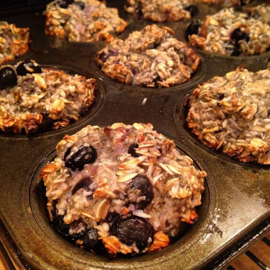 Blueberry & Banana Energy Muffins