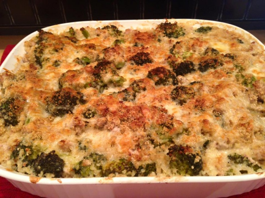 Creamy Turkey & Broccoli Quinoa Casserole
