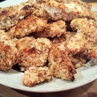 Baked Almond Crusted Chicken Strips
