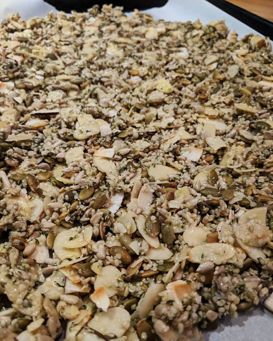 Nutty Seedy Coconut Clusters