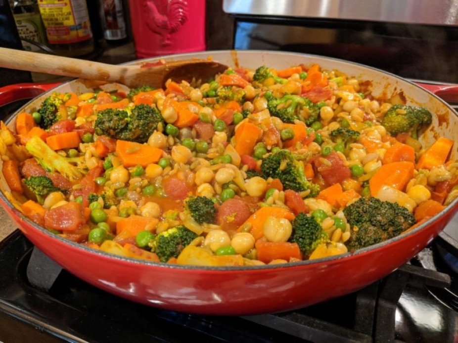 Chickpea & Lentil Curried Stew