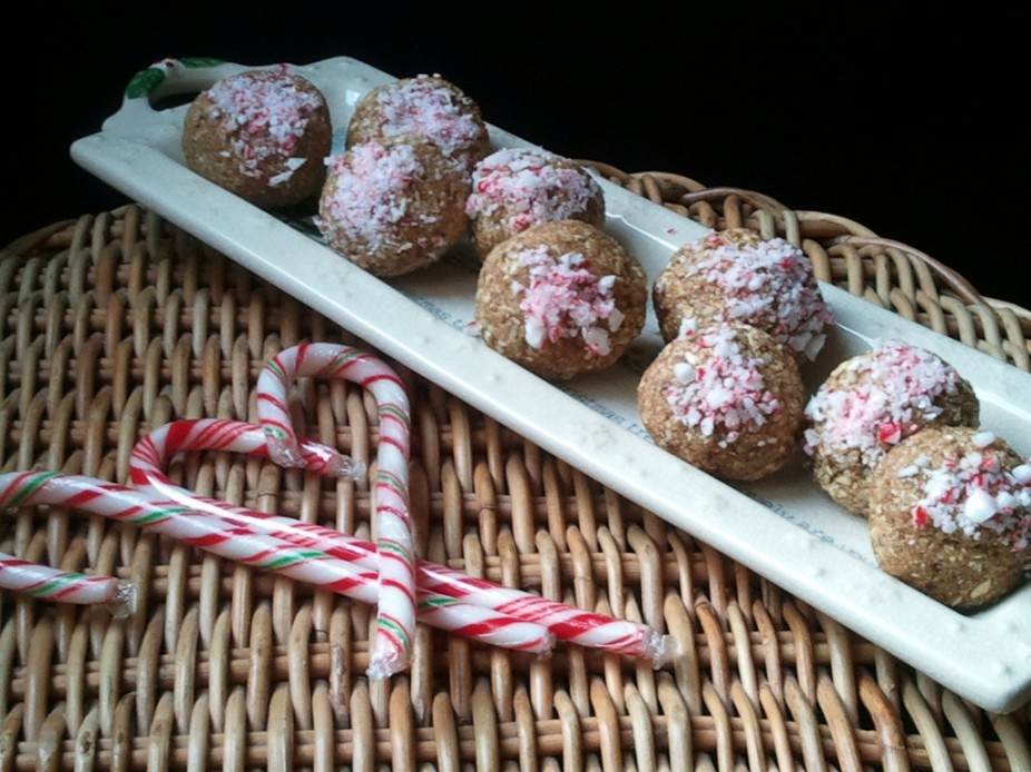 Candy Cane Protein Balls