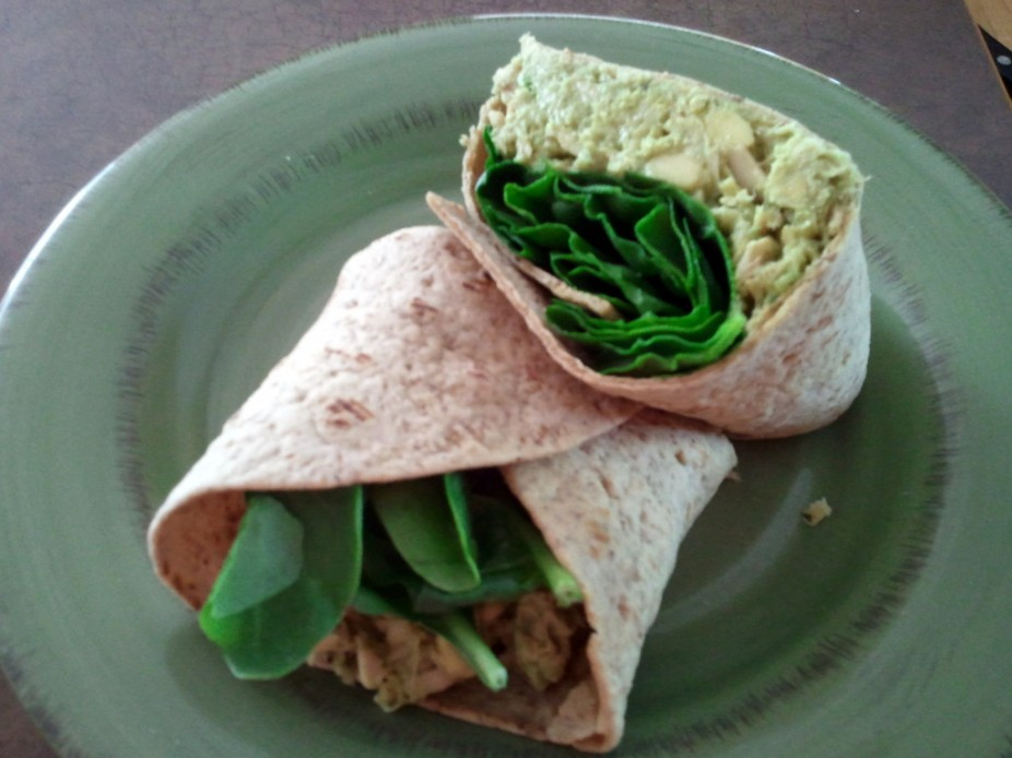Avocado Tuna Wrap