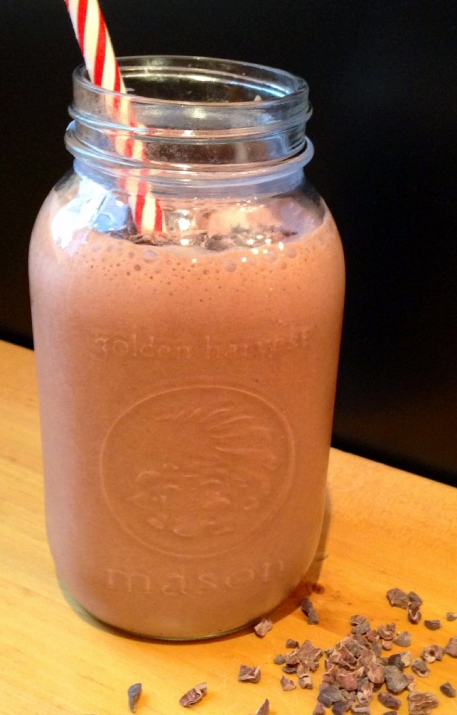 Chocolate Covered Strawberry Protein Smoothie